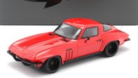 1966 Corvette Custom Red Resin Model Car in 1:18 Scale by GT Spirit