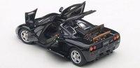 McLaren F1 in Jet Black Metallic/Metallic BlackDiecast Model Car by Auto Art in 1:43 Scale