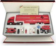 Race Transporter Set Scuderia Ferrari G.P. San Marino 1982 in 1:43 Scale by Brumm