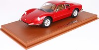 Ferrari Dino 246 GT TIPO 607L 1969 Red in 1:18 Scale by BBR
