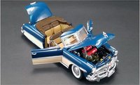 1952 Hudson Hornet Convertible Admiral Blue Boston Ivory by Acme in 1:18 Scale
