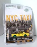 1984 Dodge Diplomat NYC TAXI CAB  GREEN WHEELED VERSION  1:64 scale by Greenlight