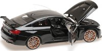 BMW M4 GTS Diecast Model Black in 1:18 Scale by Minichamps