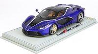 Ferrari LaFerrari in metallic electric blue w/ Display Case in 1:18 scale by BBR