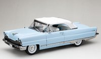 1956 Lincoln Premiere Closed Convertible in blue in 1:18 scale by Sun Star
