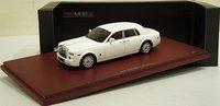 2009 Rolls Royce Phantom Sedan in English White Diecast Model Car in 1:43 Scale by True Scale Miniatures