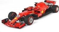 Ferrari SF71-H GP Belgium 2018 SPA Francorchamps Winner Vettel Diecast Model in 1:18 Scale by BBR