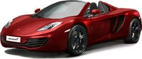 2013 McLaren MP4-12C Spider Volcano Red LHD Diecast Model Car in 1:43 Scale by Truescale Miniatures