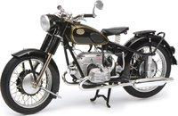 Zundapp KS 601 Black Motorcycle in 1:10 Scale by Schuco