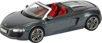 Audi R8 Spyder in Grey Diecast Model in 1:43 Scale by Schuco