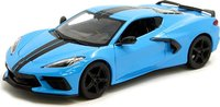 2020 Chevrolet Corvette C8 Stingray in Blue Diecast in 1:24 Scale by Maisto