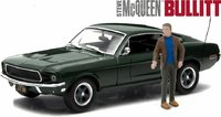 1968 Ford Mustang GT Fastback Steve McQueen Bullitt with Steve McQueen Figure in 1:43 Scale by Greenlight