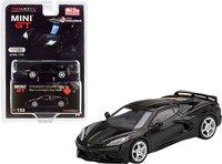 2020 C8 Corvette black in 1:64 scale by Mini GT