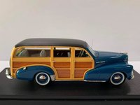1948 Chevrolet Fleetmaster Woodie Blue in 1:43 Scale by Goldvarg Collection