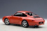 1995 Porsche 993 Carrera in Red Model Car in 1:18 Scale by AUTOart