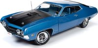 1970 Ford Torino Cobra Fastback Blue Diecast  in 1:18 Scale by Auto World
