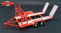 TANDEM CAR TRAILER WITH TIRE RACK in 1:43 scale by GMP