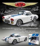 1960 Chevrolet Corvette #3 24 Hours of Le Mans 1960 Class Winner Fitch/Grossman in 1:18 scale by RAR