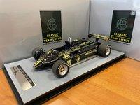 Lotus 91 #11 1982 Austria GP Winner Elio de Angelis in 1:18 Scale by Tecnomodel