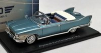 1960 Plymouth Fury Convertible met turq/wht in 1:43 scale by Neo