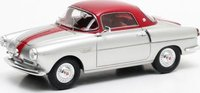 1959 Fiat 600 Viotti Coupe in Silver / Red Model Car in 1:43 Scale by Matrix