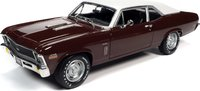 1970 Chevrolet Nova SS 396 Black Cherry in 1:18 Scale by Auto World