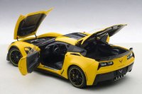 2016 Corvette C7.R Edtion Z06 in Yellow Model in 1:18 Scale by AUTOart