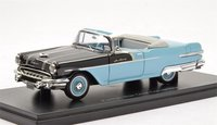 1956 Pontiac Star Chief Convertible Black/Blue in 1:43 Scale by Neo