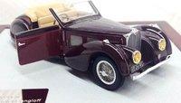 1937 Bugatti Atalante Cabriolet Gangloff T57SC Model Car in 1:43 Scale by Ilario