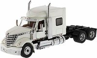 International Lonestar Sleeper Cab Truck Tractor White in 1:50 scale by Diecast Masters