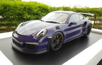 Porsche 991 GT3 RS 2016 Ultra Violet Resin Model Car in 1:12 Scale by Spark
