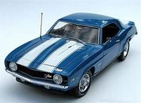 1969 Camaro Z28 blue in 1:20 scale by Creative Masters