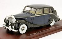 "1952 Rolls Royce Silver Wraith Saloon ""Park Ward"" Blue/Black Model Car in 1:43 Scale by Truescale Miniatures"