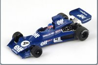 Tyrrell 007, No.4, 4th Belgium GP 1975, Patrick Depailler  Diecast Model Car in 1:43 Scale by Spark