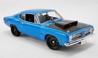 Plymouth Barracuda Street Fighter - Corporate Blue  Diecast Model by Acme in 1:18 Scale