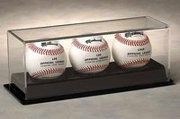 3 Baseball Display Case: Black Base