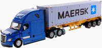 Freightliner New Cascadia with with 40' Dry good Sea Container by Diecast Masters in 1:50 Scale