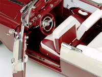 1955 Pontiac Star Chief Open Convertible - White Mist/Persian Maroon Diecast Model Car in 1:18 Scale by Sun Star
