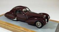 1936 Bugatti 57S Atlantic sn57473  Seydoux Restoration Resin Model Car in 1:43 Scale by Ilario