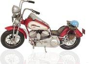 Red Harley-Davidson Motorcycle Metal Handmade by Old Modern Handicrafts