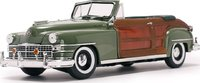 1948 Chrysler Town & Country  Heather Green in 1:18 Scale by Sunstar