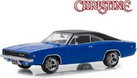 "1968 Dodge Charger in Blue ""Christine"" movie in 1:43 scale by Greenlight"