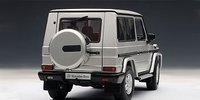 1998 Mercedes-Benz G500 SWB Diecast Model Car in Silver in 1:18 Scale by AUTOart