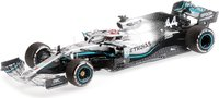 MERCEDES AMG PETRONAS MOTORSPORT F1 W10 EQ POWER+ LEWIS HAMILTON WORLD CHAMPION USA GP 2019 in 1:43 scale by Minichamps