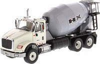 International HX615 Concrete Mixer White Grey Mixer Drum in 1:50 scale by Diecast Masters