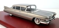 1959 Cadillac Series 75 Limousine in Silver Diecast Model Car in 1:43 Scale by Truescale Miniatures