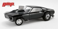 1969 Mustang Gasser Show Stopper in Triple Gloss Black in 1:18 Scale by GMP