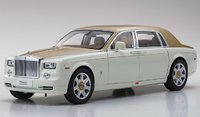 Rolls-Royce Phantom EWB in white/gold 1:18 Scale by Kyosho