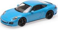 Porsche 911 Carrera 4 GTS in Miami Blue in 1:43 by Minichamps