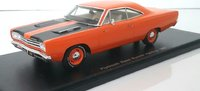 1968 Plymouth road runner hardtop, orange in 1:43 scale by Spark